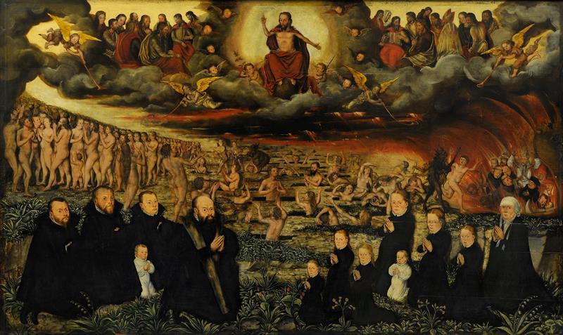 Monogramista HG – Poslední soud s donátory: epitaf neznámé rodiny, 1568, Moravská galerie