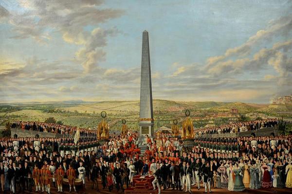 František (Franz) Richter – Zasvěcení obelisku na Františkově r. 1818