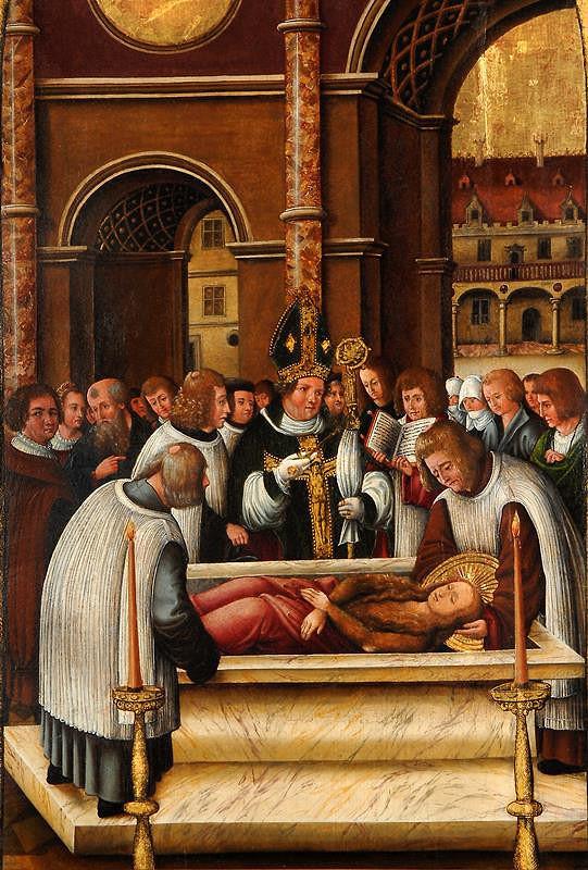 neznámý malíř podunajský – Pohřeb sv. Maří Magdaleny