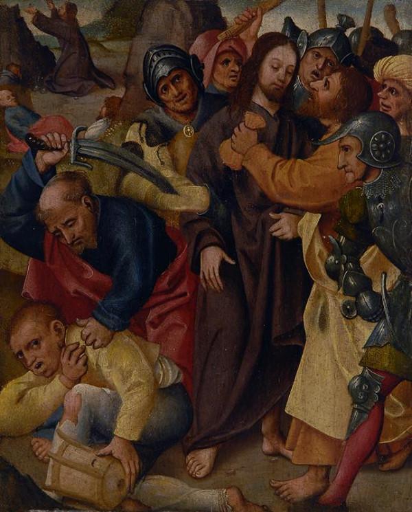 Mistr Pašijí z Karlsruhe - následovník - Zajetí Krista
