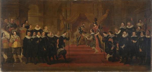 Cornelis de Vos - podle – Hold představených antverpského cechu puškařů císaři Karlu V.
