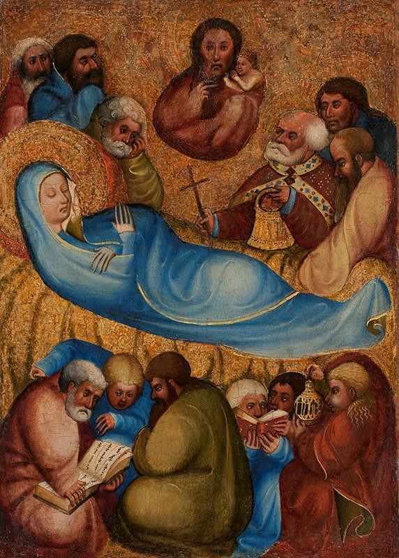 neznámý malíř moravský / rakouský (?) – Smrt Panny Marie z Rajhradu
