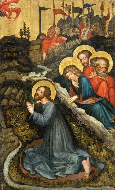 Mistr Rajhradského oltáře – Kristus na hoře Olivetské