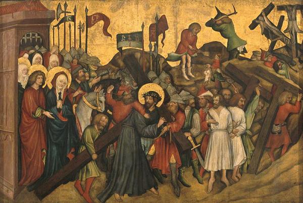 Mistr Rajhradského oltáře – Nesení kříže