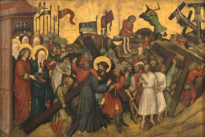 Mistr Rajhradského oltáře – Nesení kříže, pred 1420, Moravská galerie