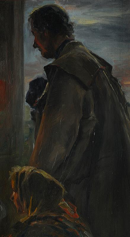 Carl Maria Thuma - Sedlák s děvčetem na modlitbě