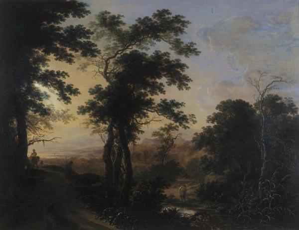 Herman Saftleven - Západ slunce