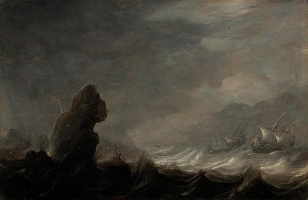 Pieter Mulier – Plachetnice v bouři