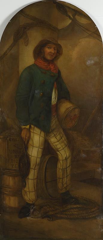 Josef Matěj Navrátil – Vývěstní štít s námořníkem