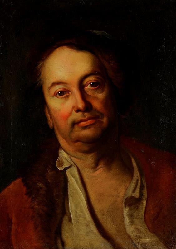 Franz Anton Palko - Portrét brněnského malíře Jana Jiřího Etgense (1691 Brno - 1757 Brno)