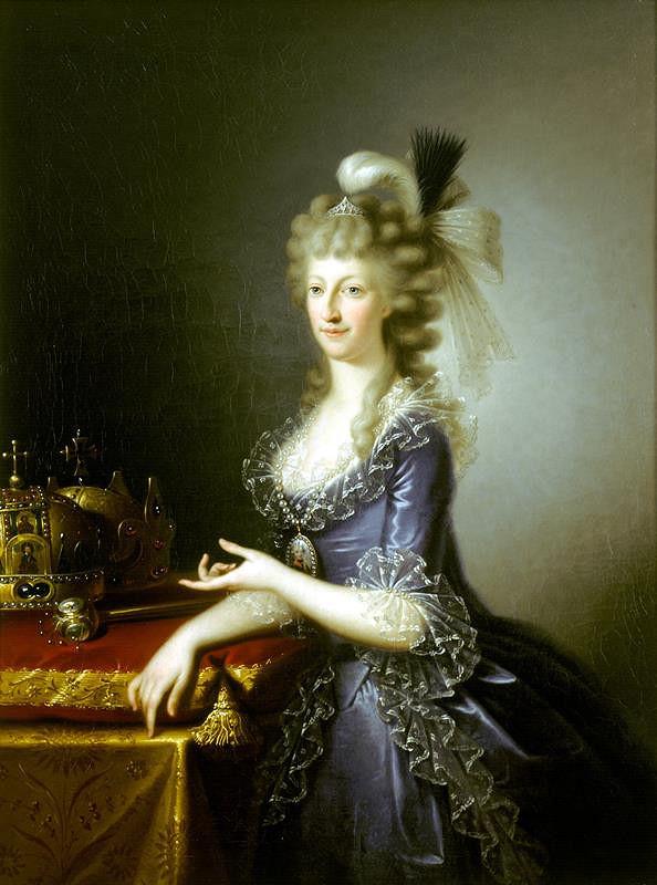 Johann Baptist Lampi ml - Podobizna Marie Terezie Sicilské (1772-1807)