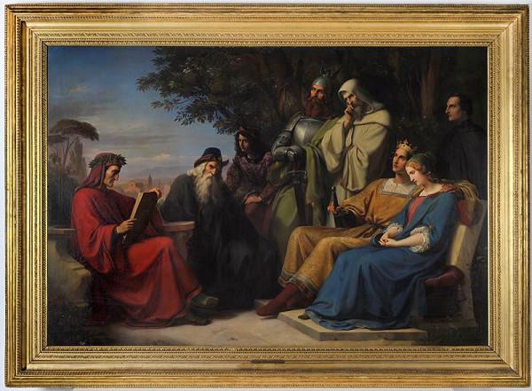 Heinrich Karl Anton Mücke - Dante čte Božskou komedii