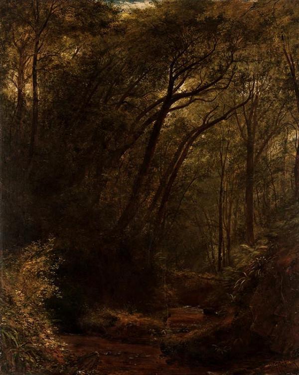 Julius Eduard Mařák - V zášeří (Lesní interiér)