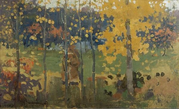 Joža Uprka - Studie stromů na podzim