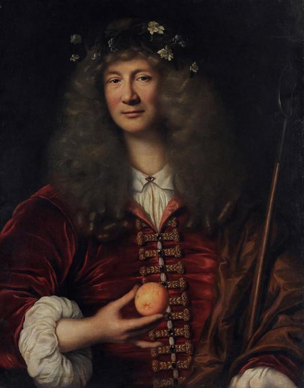 neznámý malíř francouzský - Podobizna šlechtice s pomerančem v ruce