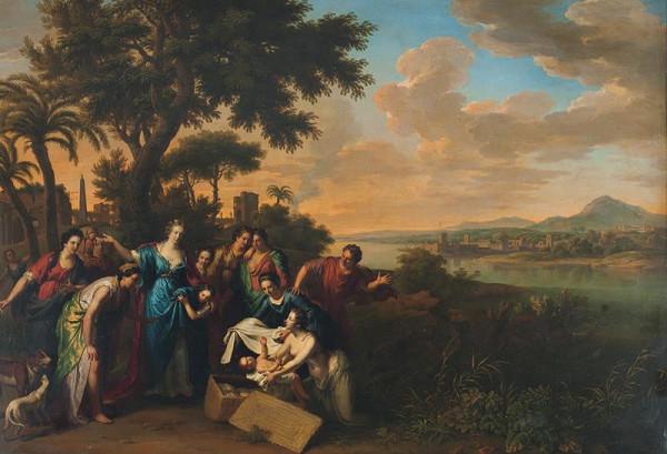 Adriaen van der Werff - Nalezení  Mojžíše