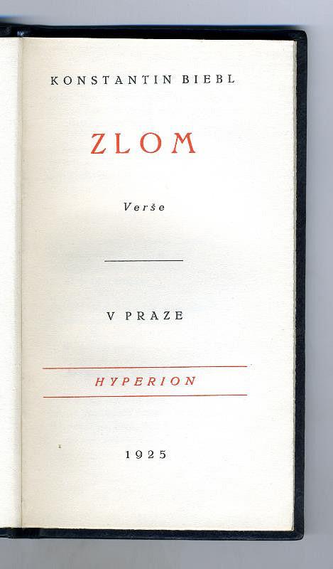 Hyperion (knihovna), Kryl a Scotti, Erna Janská, Konstantin Biebl, Antonín Tvrdý, Cyril Bouda - Zlom