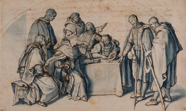 Sigismondo Coccapani - Sv. Antonín Florentský a slepí žebráci