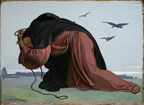 Felix Jenewein - Zoufání, studie ke střední části triptychu Jidáš Iškariotský