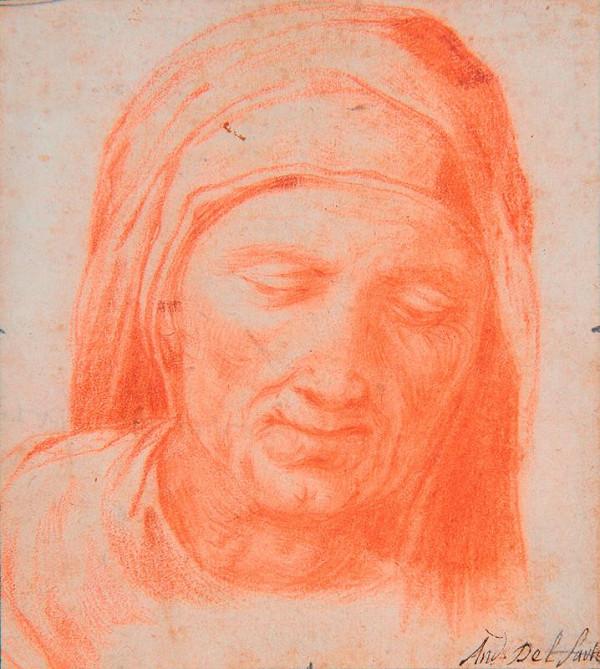 neznámý malíř italský - Hlava staré ženy