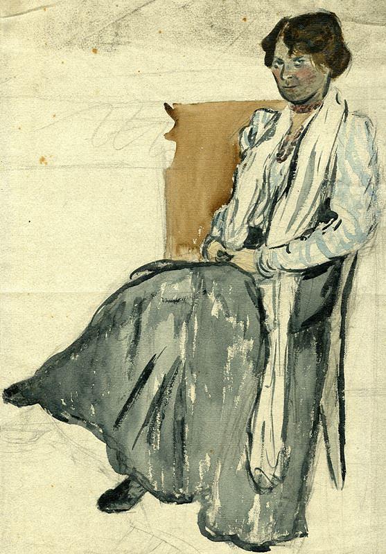 František Gellner – Žena v křesle