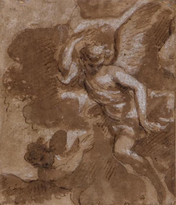 neznámý malíř italský - Letící andělé