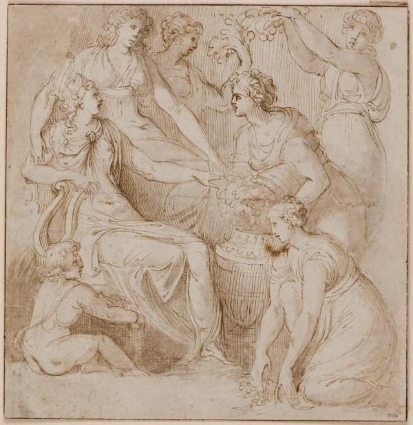 neznámý malíř italský – Mytologický výjev