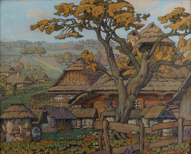 Bohumír Jaroněk – Valašská vesnice, Moravská galerie