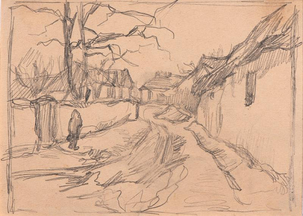 Ludvík Ehrenhaft - Karlova ulička ve Veselí