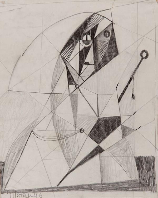 Bohumír Matal - Žena s deštníkem