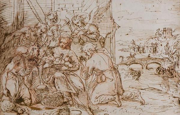 neznámý malíř italský – Klanění pastýřů