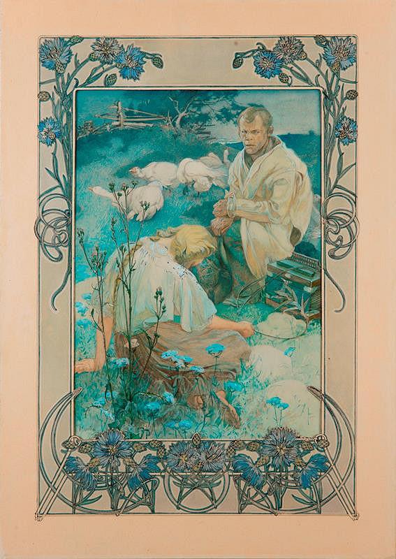 Alfons Mucha - Blahoslavení chudí duchem
