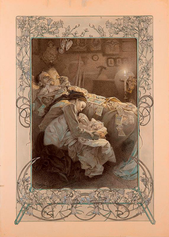 Alfons Mucha – Blahoslavení lkající
