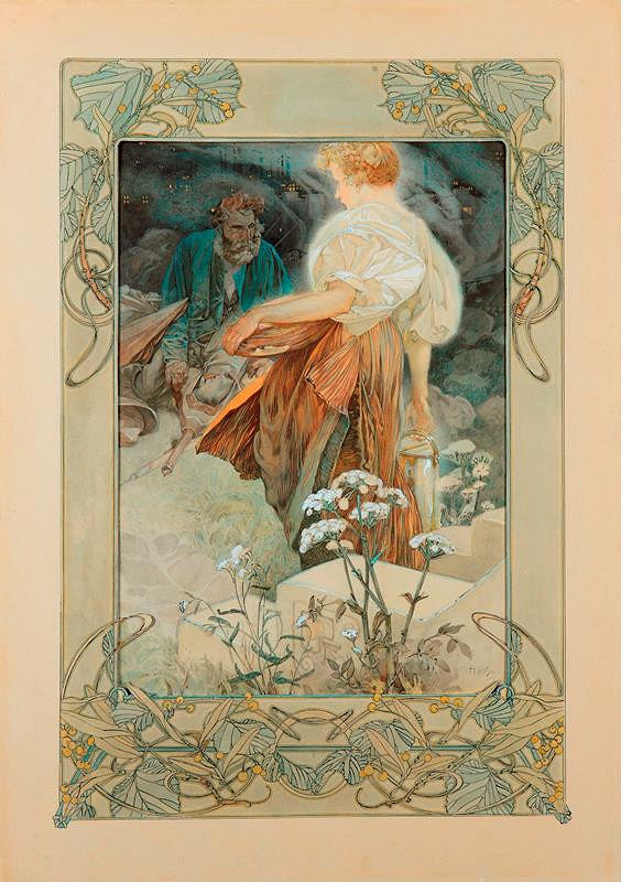 Alfons Mucha – Blahoslavení milosrdní