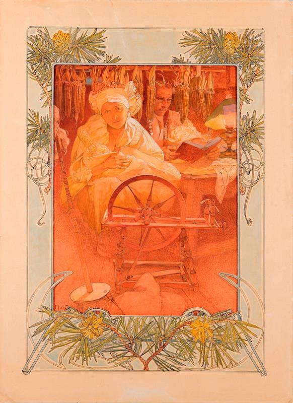 Alfons Mucha - Blahoslavení pokojní