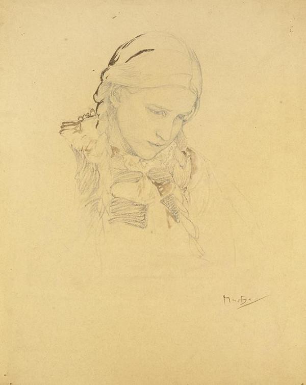 Alfons Mucha – Studie k Blahoslaveným čistého srdce