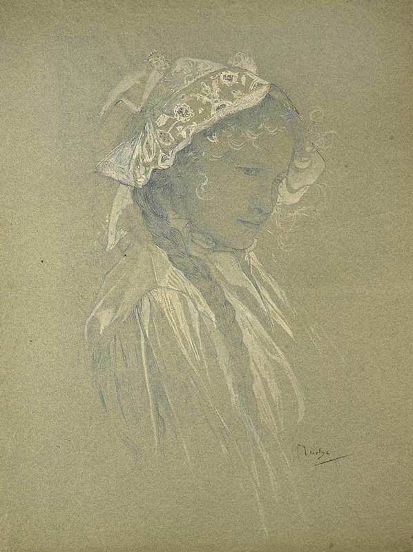Alfons Mucha – Studie Blahoslaveným čistého srdce