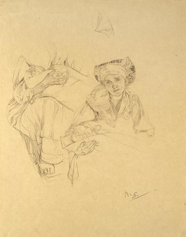 Alfons Mucha – Studie k Blahoslaveným pokojným