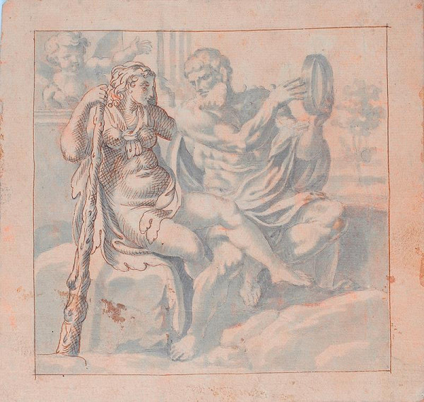 Annibale Carracci - podle - Herkules a Omfalé