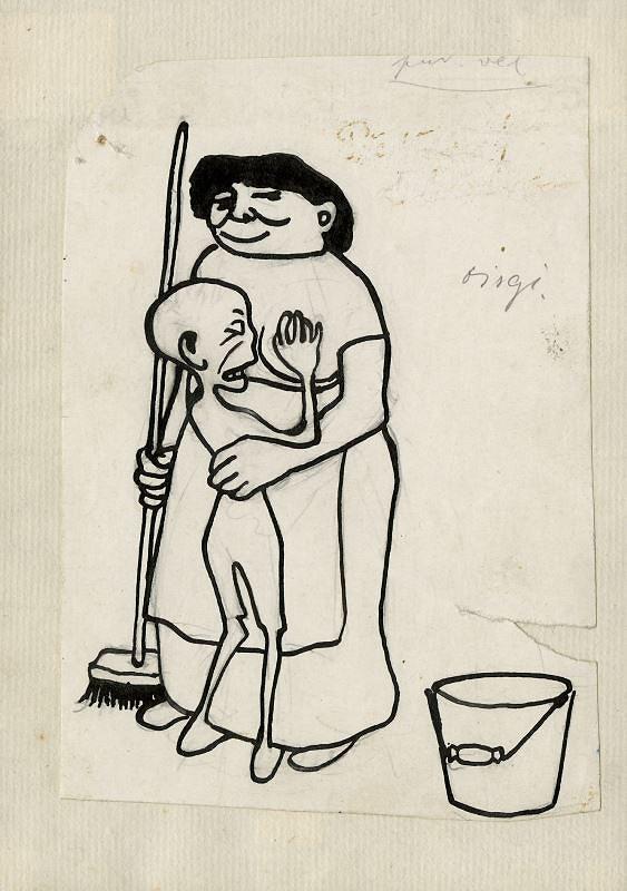 František Gellner – Žena s dítětem