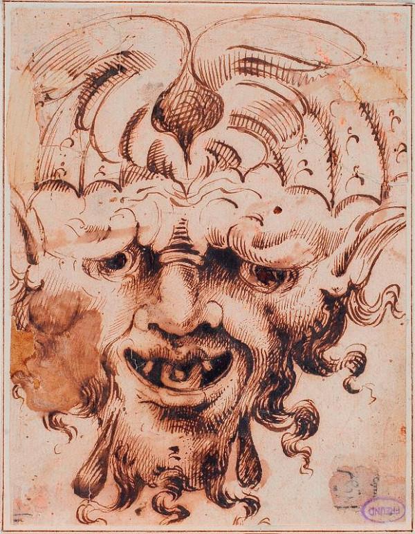 neznámý malíř boloňský (?) – Maska