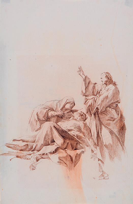 Paul Troger - Studie ke Smrti sv. Josefa