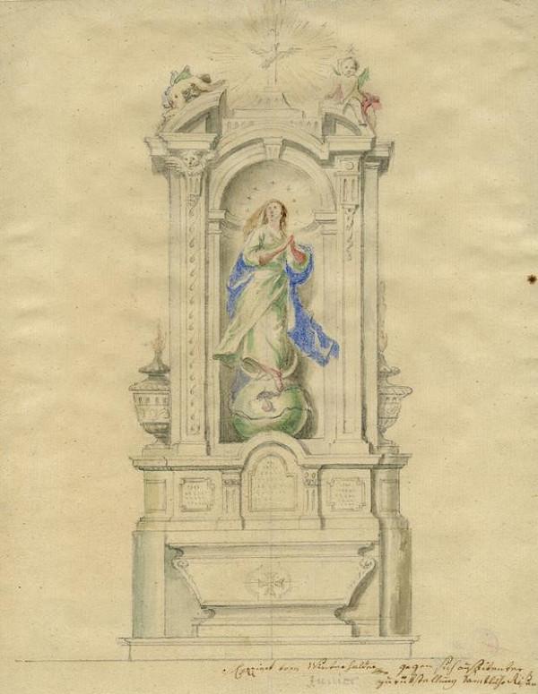 Josef Winterhalder II. (Winterhalter) – Oltář neposkvrněného početí P. Marie