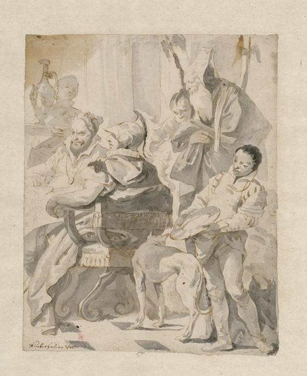 Josef Winterhalder II. (Winterhalter) - Alexander na hostině u Kleopatry
