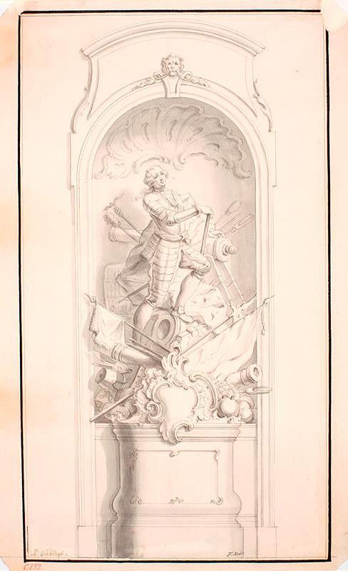 Ondřej (Andreas) Schweigl – Návrh na pomník vojevůdce