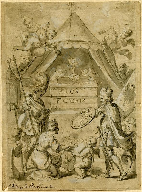 Antonín Martin Lublinský – Sv.Václav před archou úmluvy