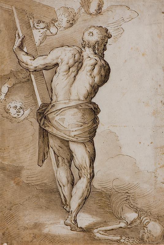 Jacopo Negretti zv. Palma il Giovane - podle – Studie z obrazu Kristus v předpeklí