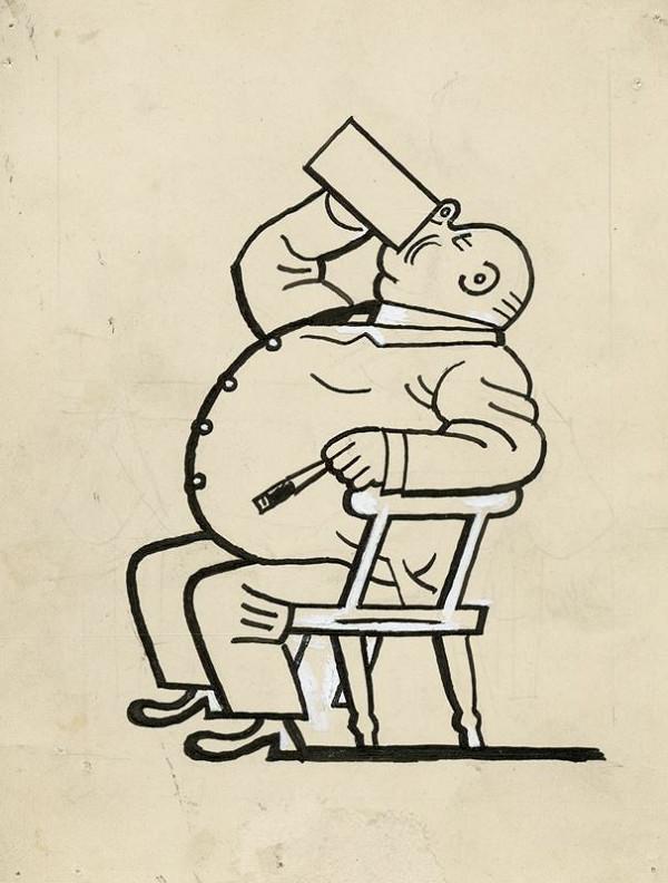 Josef Lada - Litr piva jedním tahem