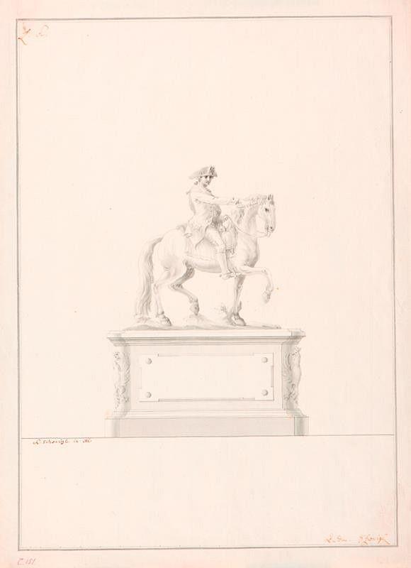 Ondřej (Andreas) Schweigl – Návrh na jezdecký pomník