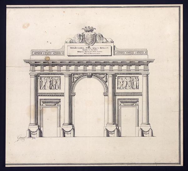 Isidore Marcellus Amandus Canevale - Rájec - portál do zámku